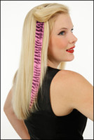 Wholesale 16 quot Animal Tiger Print Synthetic Hair Extension Clip In Feather Extensions TPE020