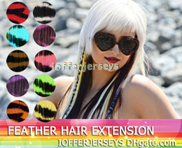 Wholesale 16 animal print hair extensions Go Wild Tiger Print Colorful clip in colors IT006