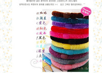 Wholesale Candy color Headband Rubber Band Hair Holder Velvet Elastic Rope Ornament