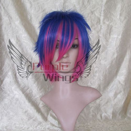 Wholesale Panty Stocking Stocking Version Blue Red Cosplay Wig
