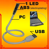 Wholesale 100 notebook USB Laptop Mini Keyboard LED Light PC electroplating