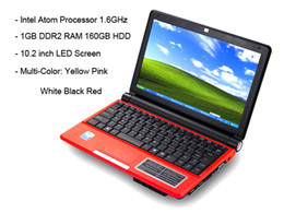 Wholesale 10 quot OEM S30 Intel Atom N450 Windows XP Win7 OS Mini Laptop PC G RAM G Notebook Computer