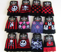 Wholesale New pairs Halloween costume gloves SET mixed colors and design GIft