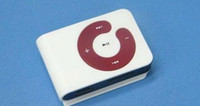 Wholesale Mini Polychrome Clip Mp3 Player support TF card with Sport Mp3 Player USB cable good quality