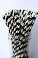 Wholesale Paper Straws black color designs Drinking Paper Straws Drinking Straws
