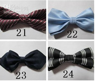 Wholesale 2011 hot CAN CHOOSE Mixed styles Polyester plain bow ties bowtie bow tie for men High Quality p