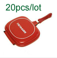 Wholesale lotHappy Call Pan Double Sided Fry Pan Non Stick Grill Pan Fedex DHL EMS Shipping