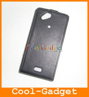 Wholesale Real Genuine Flip Leather Pouch Case Cover for XPERIA Arc X12 SEX12C13