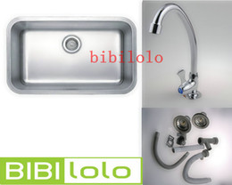 Wholesale Stainless steady sink and the faucet for kitchen room L1804