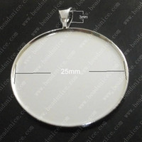 Wholesale Beadsnice pendant base blank bezel cabochon setting for your jewelry making fits mm round cabochon hole X5mm ID10820
