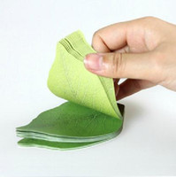 Wholesale Clearance Paper Note Leaves shape memo pad Desk Note Memo Pad Paper special gift
