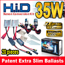 20 Sets 12V 35W Silver Slim Ballasts HID Xenon Conversion Kits 2 Bulbs + 2 Digital Slim Single Beam