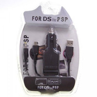 Wholesale 2pcs in Car USB Charging Cable for PSP and NDS Lite DC V