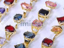 Wholesale Mixed Gold plated Australia Rhinestone Women s Nice Ring Jewelry Birthday CZ43