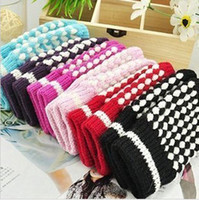 Wholesale Half Finger Gloves Warm Pelerine Design Fashion cute plaid pattern For Computer Use Mitt