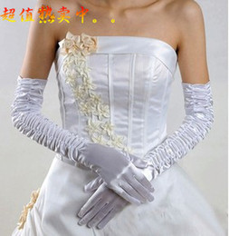 Wholesale New Arrival Bridal Gloves About Appliques Flower Glove Hollow Wedding Dress Accessories White Bridal Gloves Hot Sale Cheap