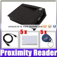 Wholesale Best price USB KHz EM4100 RFID Proximity Reader with Cards Key Tags egomall
