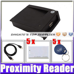 Wholesale Best price USB KHz EM4100 RFID Proximity Reader with Cards Key Tags egomall