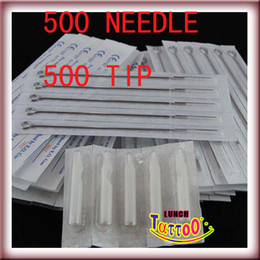 Wholesale 500 PRE STERILED TATTOO NEEDLES AND TIPS Express Supply