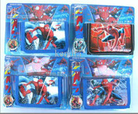 Wholesale 20 pc cartoon spiderman watches and wallet sets with gift box