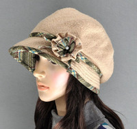 Wholesale Classic Flowered Wool Bucket Cloche Hat mix of