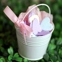 Wholesale Mini White Pail Mint Tin Wedding Favors DIY Beach wedding gift