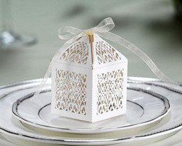 Wholesale Paper Orchid Filigree Favor Boxes laser cut box laser box Gift box Boxes