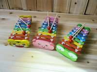 Wholesale baby wood cartoon hands knock xylophone with nice voices items