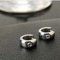 Wholesale men s earrings titanium earring punk jewelry piercing mens earring stud crystal drop earrings