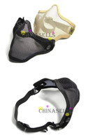 Wholesale in stock steel mesh hole face masks Tactical Gun TMC Metal Steel Wire Half Face Mesh Airsoft Mask Paintball m