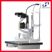 Wholesale S280S steps magnification slit lamp microscope halogen or LED light optional table excluded