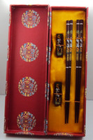 Wholesale NEW EXCELLENT WOOD CHOPSTICKS CRAFTS CARVED crane