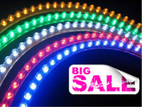 Wholesale LED Auto Lamp Flexible Strip Mix Color Car Light Strips Waterproof CM V Wheel Chassis Light Lamp