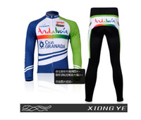 Wholesale Colorful bar Long sleeved jersey suit Ring canonic Cycling Clothing suit jersey new hot