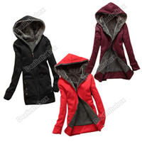 Wholesale Fashion Casual Women s Winter Hot Thicken Hoodie Coat Outerwear Colors