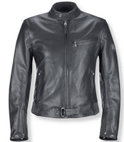 Wholesale Designer leather Jackets Genuine Corduroy fabric on the collar pure cotton for motorcycler Grey fast