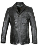 Wholesale Designer leather Jackets tailored collar hidden zipper buisness casual jackets fast