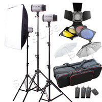 Wholesale Studio Flash Lights W STUDIO STROBE FLASH LIGHT KIT REFLECTOR BOOM ARM