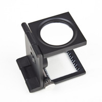 Wholesale New LED Illuminated Pocket Magnifier Folding X w Scale Magnifying Glass