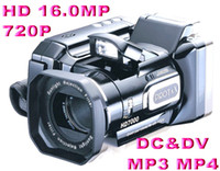 Wholesale Hot HD7000 digital cameras video camera with telephoto lens MP X ZOOM HD7000T LCD HDTV