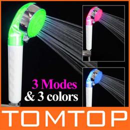 Wholesale New Arrive Adjustable Mode LED light Shower Head Automatic temperature Control Sprinkler H4891