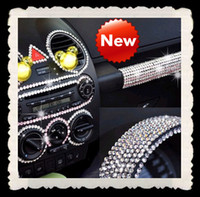 Wholesale 50PCS Diamond DIY Car Stickers Decals MM decoration strip Bling Rhinestone