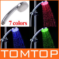 Wholesale 7 Color Changing Colorful LED Shower head Hot sellling H4725