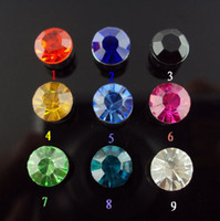 Wholesale magnetic earrings non piercing earring multicolor mm crystal rhinestone mix