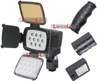 Wholesale 20 OFF LED Video Light DV Canon Nikon Camcorder lamp Battery Charger Hand Grip as COMER