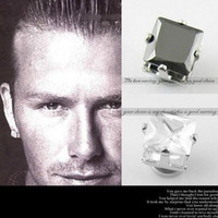 Wholesale Beckham magnetic earrings non piercing earring for men mm claw black white imitate zircon earring