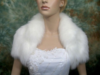 Short Sleeve faux fur Jacket Bolero wrap cape 2012 New Bride...