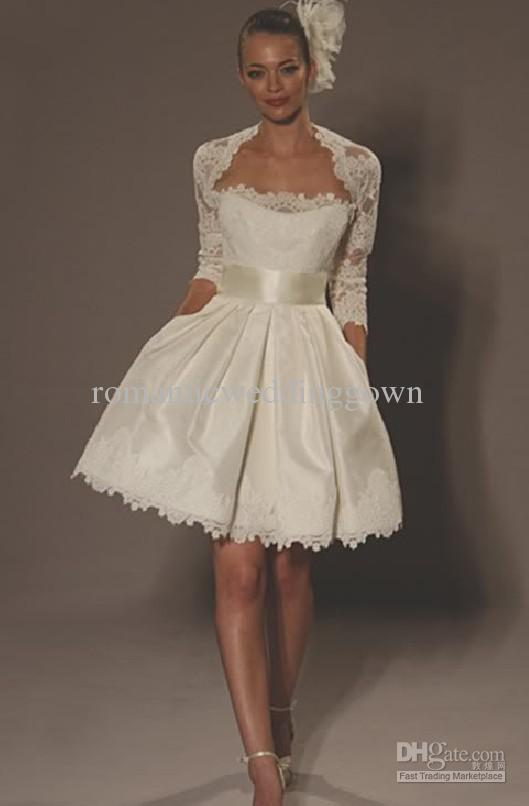 Lace Short Dresses Ivory