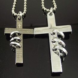 20pcs wholesale necklace stainless steel necklace cross pendant cross necklace for lover lovers' jew
