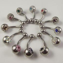 48pcs free shipping full diamond belly ring,body piercing jewelry,navel ring eyebrow nails milk ring